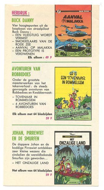 """Dupuis : Suppléments (français et néerlandais) au catalogue éditeur """" Printemps """"..."""