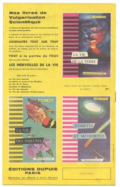 """Dupuis : Catalogue éditeur du printemps 1958 (en couverture """" Les Pirates du silence..."""