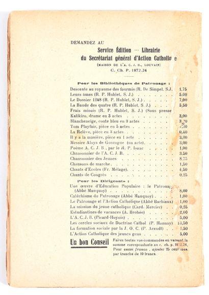 Hergé : Mile - Histoire d'un membre de patronage , édition de 1928 (de Maurice Schmitz,...