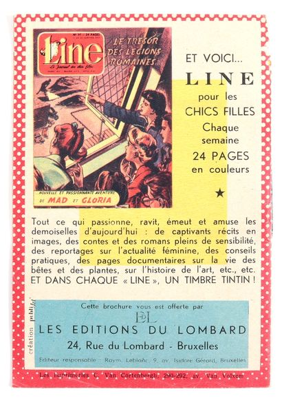 """Lombard : Catalogue éditeur """"Que Pensent vos enfants...?"""" de 1957. Rare. Bon état..."""