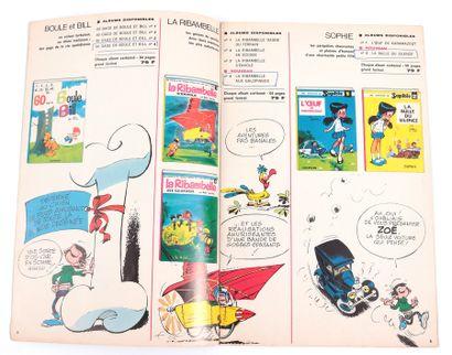 """Dupuis : Catalogue éditeur """" Vous aimez la bande dessinée """" de 1968 (contenant 19..."""