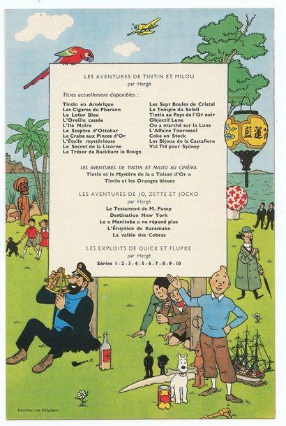 """Tintin : Fascicule publicitaire pour la sortie de l'épisode """" Vol 714 pour Sydney..."""
