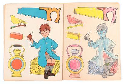 Lombard : Ensemble de 2 albums à colorier avec couverture de Macherot : Chlorophylle...