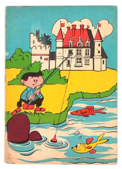 Lombard : Albums à colorier : L'éléphant, couv. Berck (S.P. 39482, nom au 1er plat,...