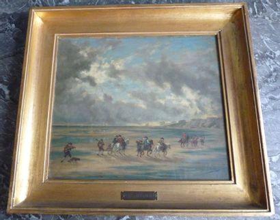 Georges BRILLOUIN (1817-1893) Cavaliers sur...