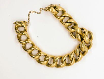 Bracelet très important en or jaune 18k (750...