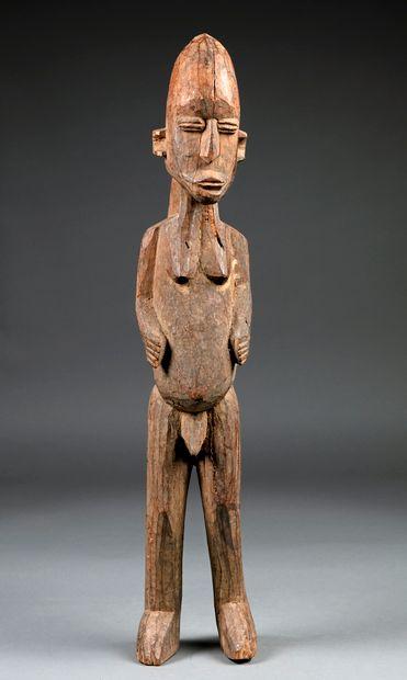 Statue masculine présentée nue debout les...