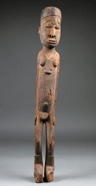 Importante statue masculine présentant un...