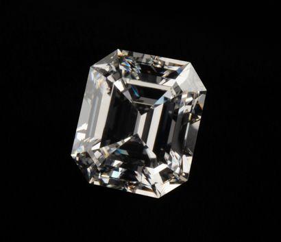 Remarquable diamant de 5,15 ct., couleur...