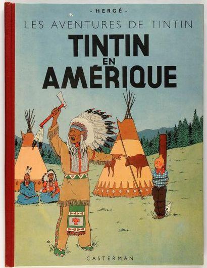 Tintin - En Amérique: Dos rouge. B1 (1947)....