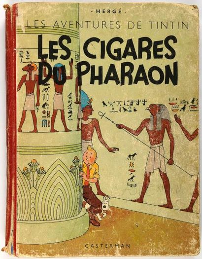 Tintin N&B - Les cigares du pharaon: A18. Grande image. Etat moyen