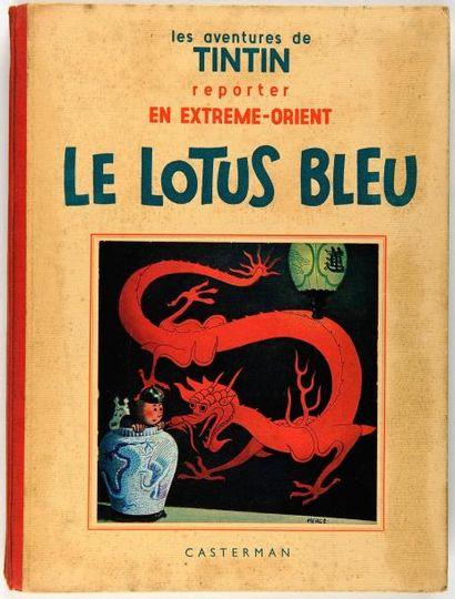 Tintin N&B - Le Lotus Bleu: 4ème plat blanc....
