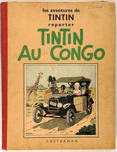 Tintin N&B - Au Congo: A3: Dixième mille. Bon état