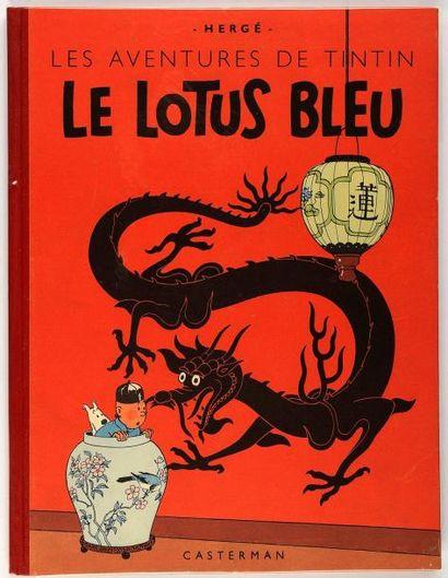 Tintin - Le lotus bleu: Dos rouge. B2 (titre en bleu). Superbe album très proche...
