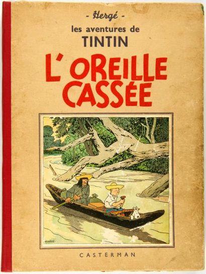 Tintin N&B - L'oreille cassée: A15. Dos + pages de garde refaits. Bon état
