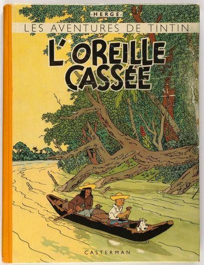 Tintin - L'oreille cassée: dos jaune. A23....