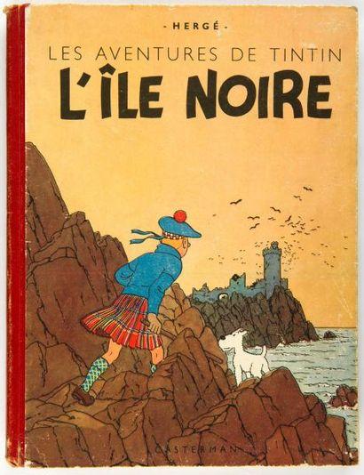 Tintin N&B - L'île noire: A18. Grande image....