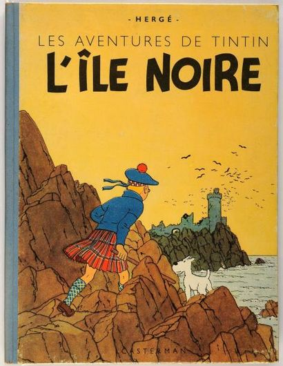Tintin - L'île noire: A23 bis, dos bleu....