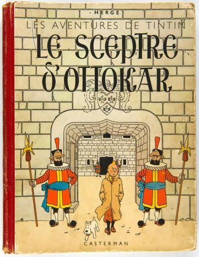 Tintin N&B - Le sceptre d'Ottokar: A18. Grande image. Bon état