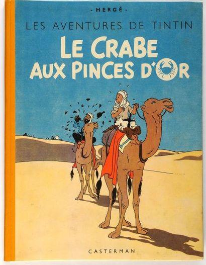 Tintin - Le crabe aux pinces d'or: dos jaune....