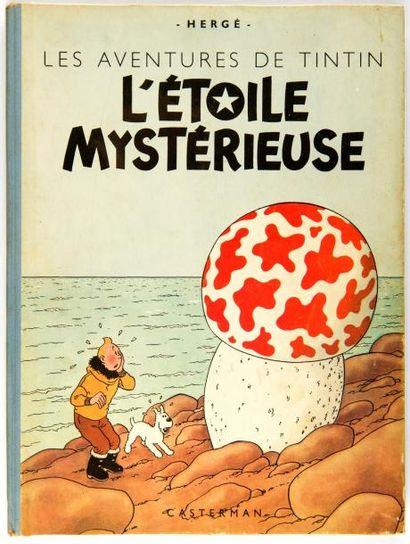 Tintin - L'étoile mystérieuse: B1, dos bleu,...
