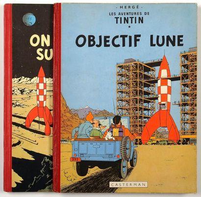 Tintin - Ensemble de 2 albums: Objectif lune...