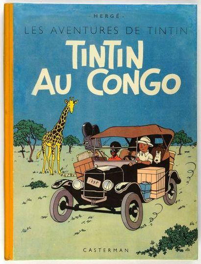 Tintin - Au Congo: Edition originale couleurs: dos jaune. B1 (1946) papier épais....