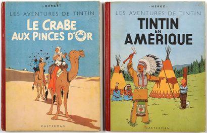 Tintin - Ensemble de 2 albums: En Amérique...