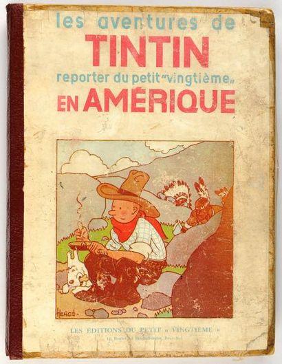 Tintin N&B - en Amérique: Edition originale Petit Vingtième. P3. Sixième mille....