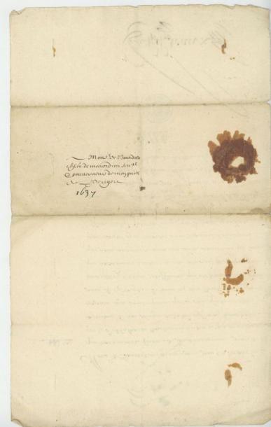 LOUIS XIV. Lettre de Louis XIV du 8 juillet 1681. Le roi exprime ensuite sa satisfaction...