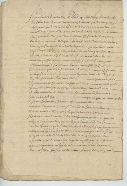 Contrat notarié de janvier 1579 entre la...