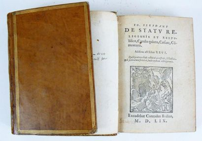 SLEIDANUS (Johannes) De Statu religionis et reipublicae, Carolo quinto caesare, commentarii....