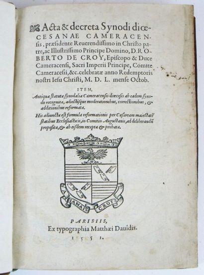[Synode de Cambrai. 1550]. Acta & decreta...