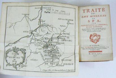 LIMBOURG (J. Ph.) Traité des eaux minerales de Spa. Liège, Desoer, 1756. In-12 basane...