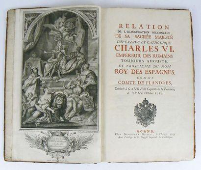 [Livre de fêtes]. Relation de l'inauguration solemnelle de sa sacrée Majesté Impériale...