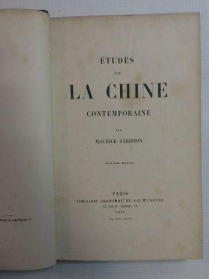 Chine - COURCY (Marquis de) L'Empire du Milieu. Description géographique, précis...