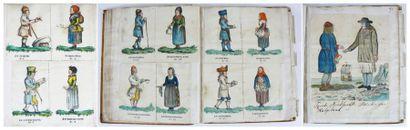 Norvège - Costumes. Recueil de dessins originaux...