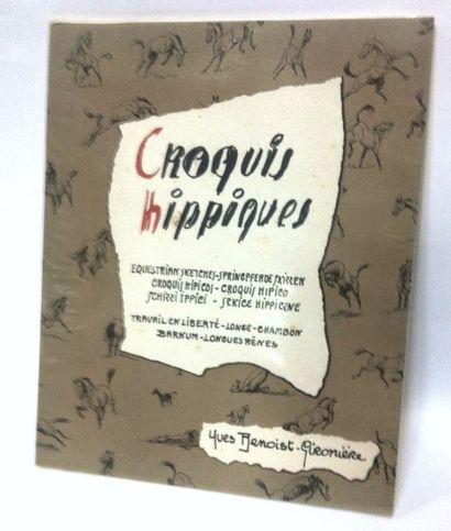 BENOIST-GIRONIERE (Yves) Croquis Hippiques, Travail en Liberté, Longe, Chambon, Barnum,...