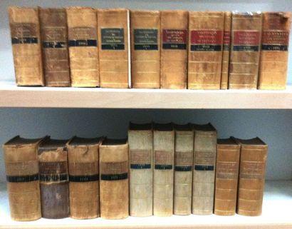 Calendriers officiels des courses de chevaux. Ensemble de 20 volumes: années 1887,...