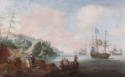 Ecole HOLLANDAISE du XVIIème siècle, entourage de Reinier ZEEMAN