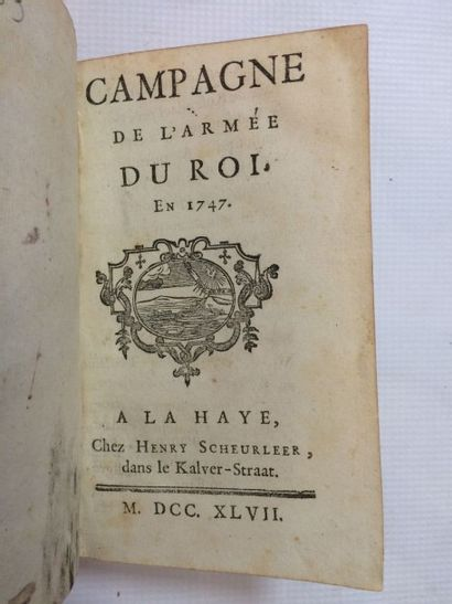 [ESPAGNAC (Jean-Baptiste Damarzit-Sahugnet, baron d')]. Campagne de l'Armée du Roi...