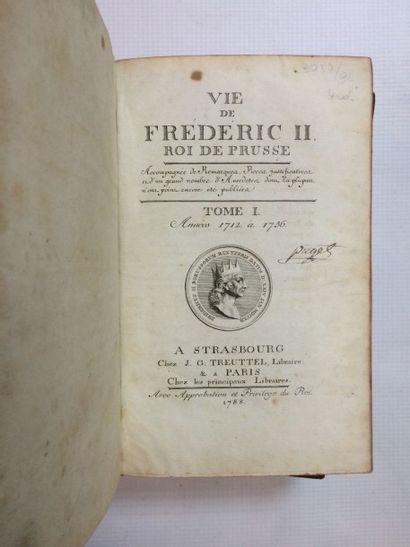 [LAVEAUX (J.-Ch. Thiébault de)] Vie de Frédéric II roi de Prusse, accompagnée de...