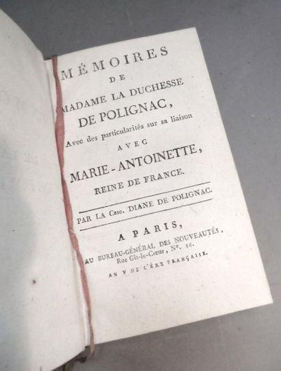 [MARIE-ANTOINETTE]. Mémoires de Madame la...