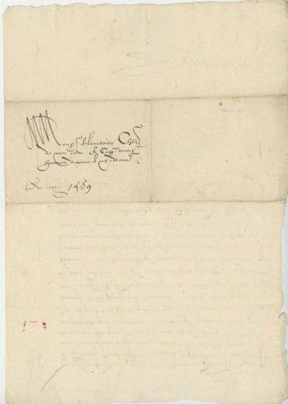 CHARLES IX. Lettre de Charles IX, décembre 1569. Remise de l'ordre de Saint-Michel...