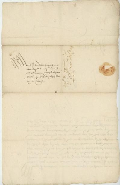 HENRI III. Lettre de Henri III du 7 octobre 1576. Remise de l'ordre de Saint-Michel...