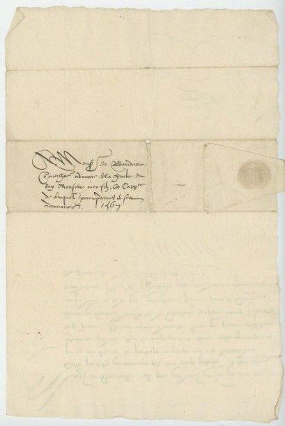 CATHERINE DE MEDICIS. Lettre de Catherine de Médicis du 7 décembre 1567. Catherine...