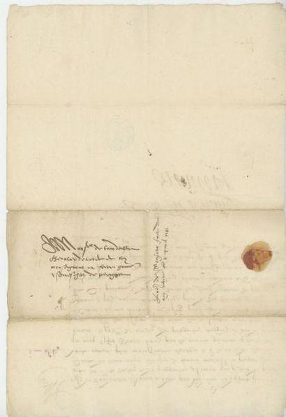 FRANÇOIS de FRANCE, Duc d'Anjou. Lettre de François de France, duc d'Anjou, frère...