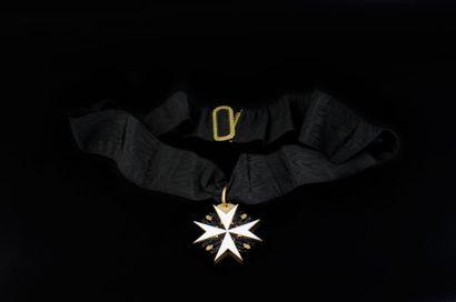 Décoration de l'ordre de Malte en or 585...