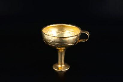 Coupe sur pied en argent doré dite Kylix...
