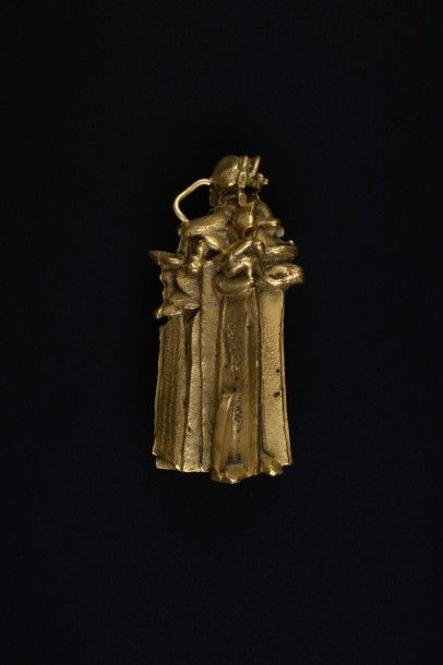 Pendentif bronze doré numéroté 94/125.  Signé:...